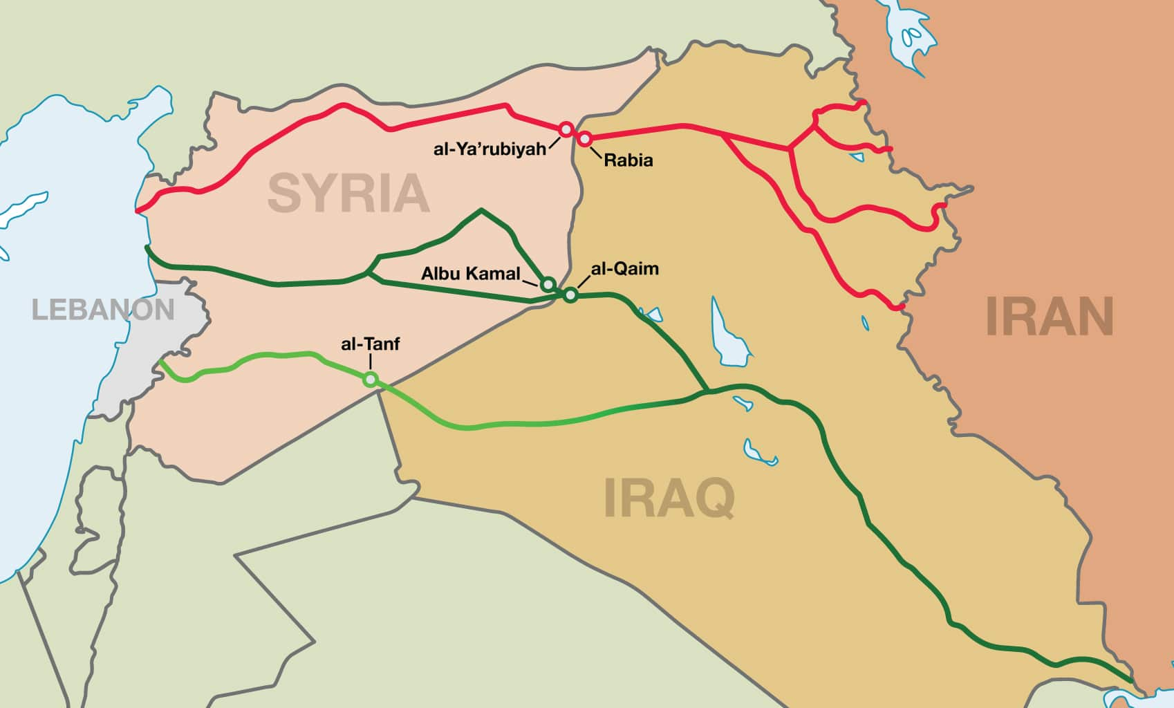 FDD | Burning Bridge: The Iranian Land Corridor to the Mediterranean